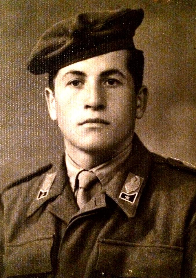 Antonio Di Nucci al militare | Caseificio Di Nucci