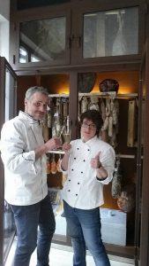 Marcella De Vita e lo chef Nicola Balestra