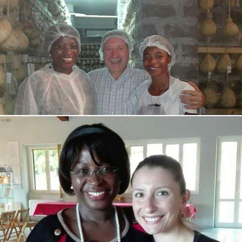 Visite in Caseificio Di Nucci | Ambasciatrice del Mozambico in Italia Maria Manuela Dos Santos Lucas