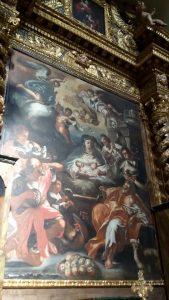 'Altare della Natività', inizi 1700, di Giangiacomo Colombo, custodito nella Chiesa di Sant'Antonio Abate di Agnone