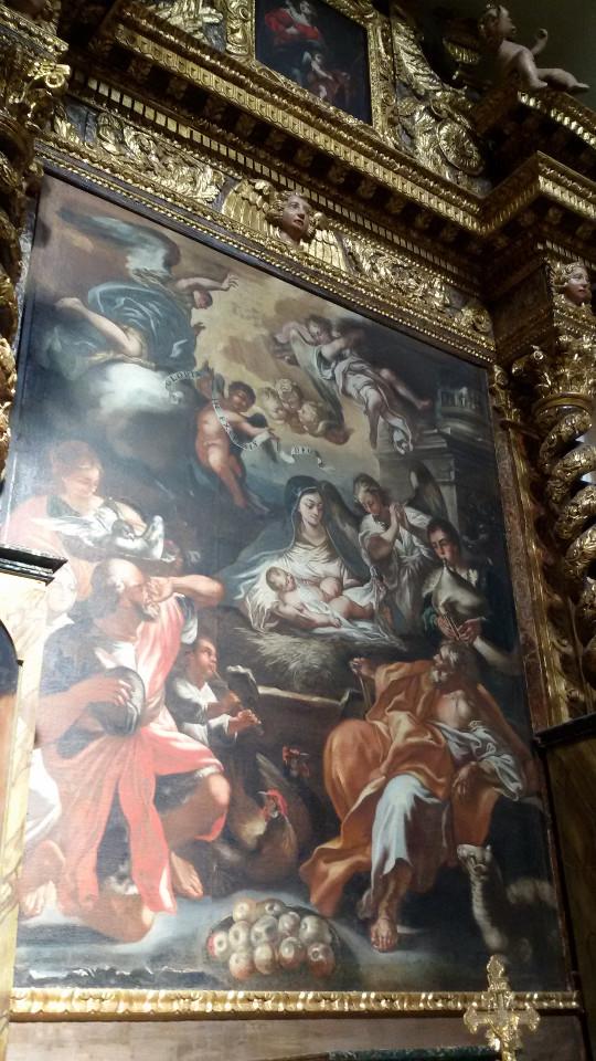 'ndocciata di Agnone | Altare della Natività, inizi 1700, di Giangiacomo Colombo, custodito nella Chiesa di Sant'Antonio Abate di Agnone