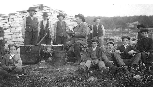 'ndocciata di Agnone |La Transumanza - Foto del 1910 dall'Archivio fotografico del Cav. Giovanni Paglione