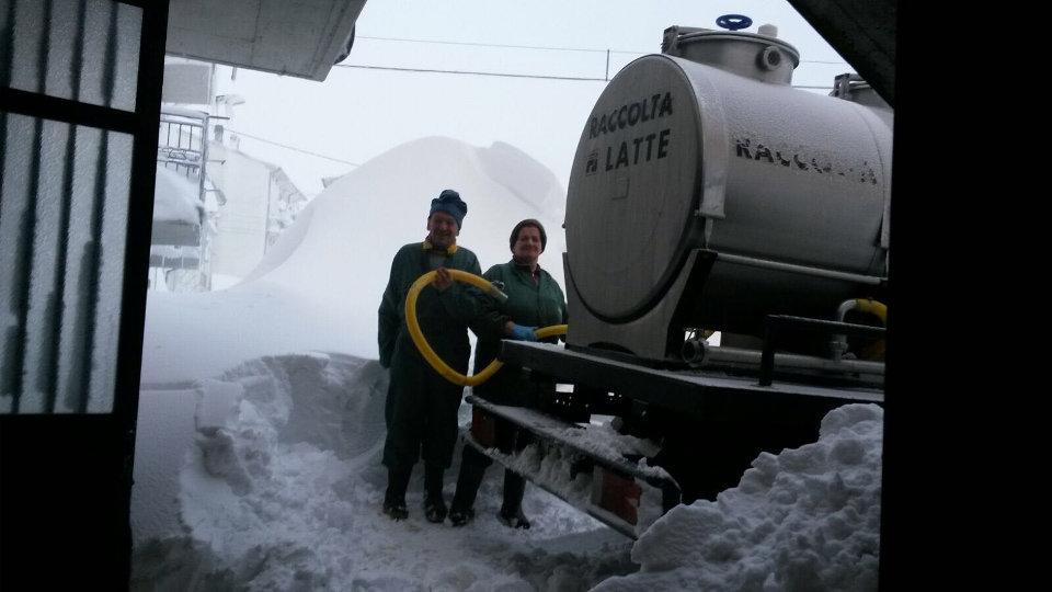 Emergenza neve | La raccolta del latte non si ferma | Caseificio Di Nucci