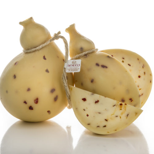 Mild Caciocavallo di Agnone with red hot pepper from Senise of Caseificio Di Nucci
