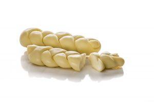 Treccia di pasta di caciocavallo, formaggi particolari, formaggi da cuocere sulla piastra, del Caseificio Di Nucci