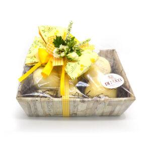 basket gift, cesto regalo, formaggi di nucci, caciocavallo, Caciocavallo di Agnone Semistagionato, scamorze, scamorze di pasta di caciocavallo, Treccia, Ricotta salata