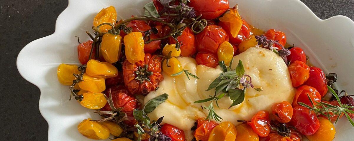 treccia con pomodorini freschi al forno